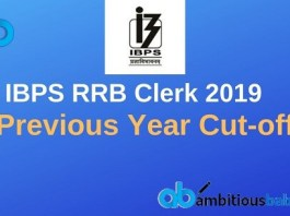IBPS RRB Clerk Previous Year Cutoff