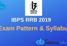 RRB po Exam Pattern & Syllabus 2019
