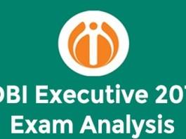 IDBI EXECUTIVE 2019 exam analysis