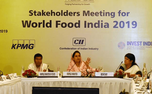 World Food India meet on Nov 1-4 in New Delhi
