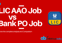 LIC AAO Job vs Bank PO Job
