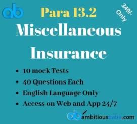 Miscellaneous Insurance