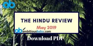 The hindu review may 2019 pdf