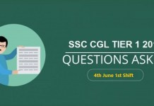 ssc-cgl-questions-asked-4-june 2019