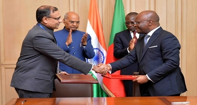 India, Benin sign MoUs in various field