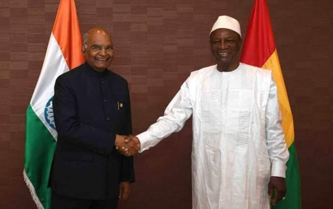 President Kovind honoured with National order of Merit, highest award of Republic of Guinea