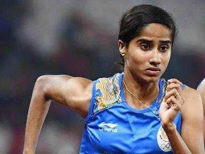 V K Vismaya won gold in womens 400m held at MJS athletics Czech Republic