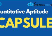 Quant Capsule for SBI Clerk Mains 2019 Blog banner