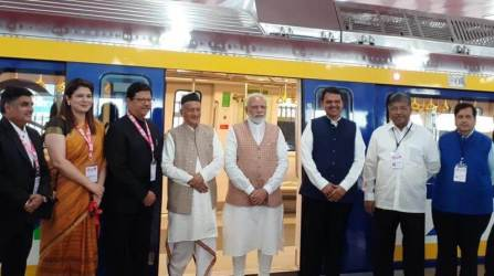 PM Modi launches Mumbai Metro coach under the Make in India initiative