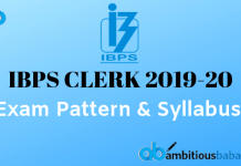 IBPS Clerk Exam Pattern and Syllabus