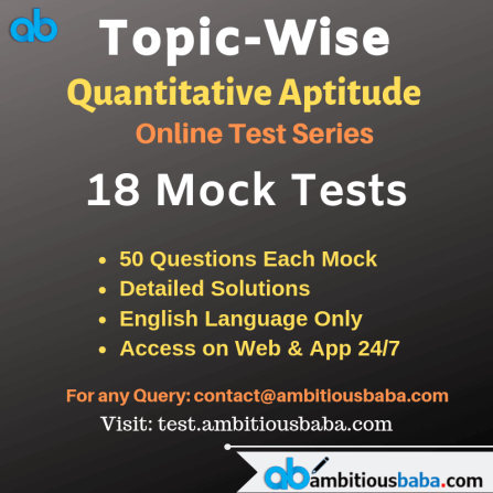 Quant Topic Wise test series
