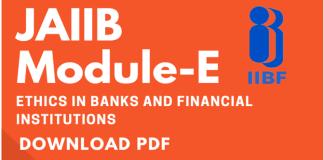Blog JAIIB Module-E