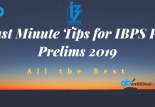 Last Minute Tips for ibps po prelims