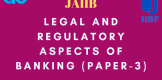 Legal and Regulatory Aspects of Banking Paper-3 Module B PDF blog