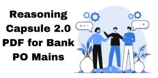 Reasoning Capsule 2.0 PDF for Bank PO Mains