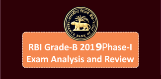 RBI Grade-B 2019 Phase-I Exam Analysis and Review