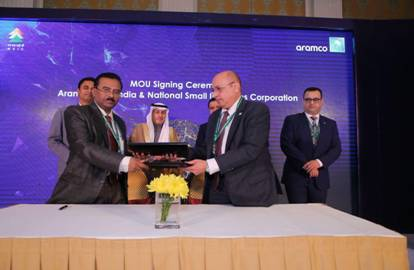 MOU signed Between NSIC & ARAMCO Asia for development in Oil & Gas Sectors