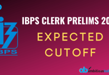 IBPS CLERK pre expected cutoff