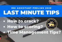 Last minute tips for rbi assistant
