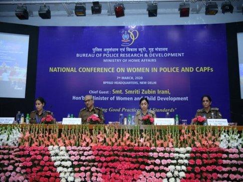 Mrs Smriti Zubin Irani inaugurates a National Conference on Women in Police and CAPFs in New Delhi