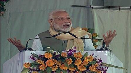 PM Modi lays foundation stone of Bundelkhand Expressway
