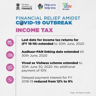 Financial Minister declared Extension for return filing till June 30, 2020