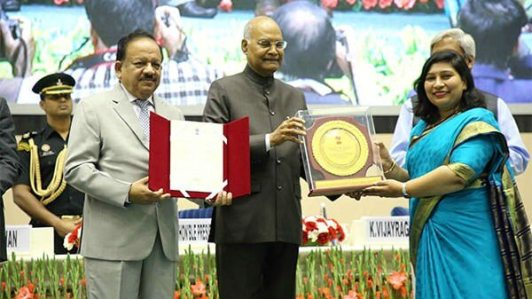 Scientists from DRDO & IIT Delhi receive National Award or Young Women Showing Excellence through Application of Technology for Societal Benefits