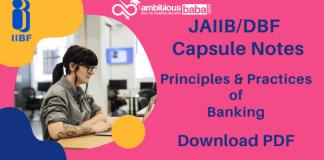 JAIIB_DBF Principles & Practices of Banking Capsule PDF