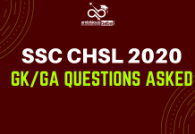 ssc chsl gk questions asked in exam
