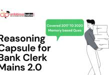 Reasoning Capsule for Bank Clerk Mains 2.0 :