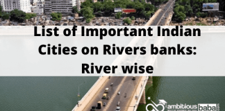 List of Important Indian Cities on Rivers banks_ River wise