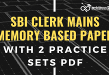 SBI Clerk Mains 2019 Memory based Blog Banner
