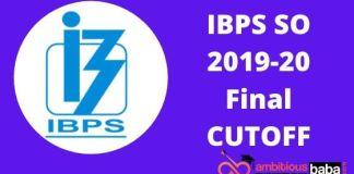 IBPS SO FINAL CUTOFF