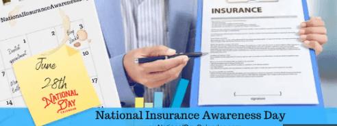 28th June: National Insurance Awareness Day 2020