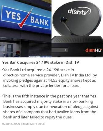 Yes Bank acquires 24.19% stake in Dish TV