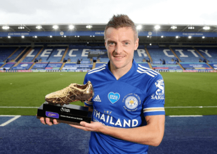 Jamie Vardy wins Premier League's Golden Boot award