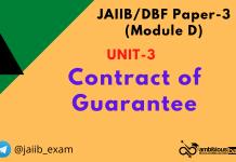 Contract of Guarantee: Jaiib/DBF Paper 3 (Module D)
