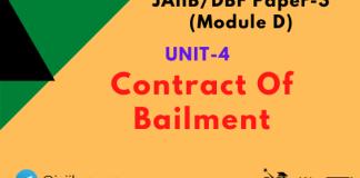 Contract Of Bailment: Jaiib/DBF Paper 3 (Module D)