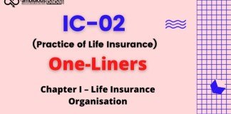III, Licentiate Exam|IC 02, Practice of Life Insurance|One Liners|Chapter 1