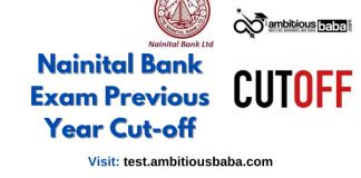Nainital Bank Previous year cutoff