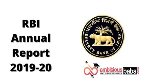 RBI Annual Report 2019-20