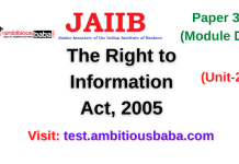 The Right to Information Act, 2005: Jaiib Paper 3 (Module D)