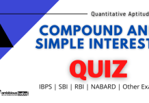 Compund and Simple interest Quiz'