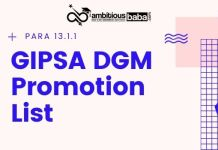 GIPSA DGM Promotion List