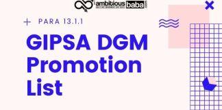 GIPSA DGM Promotion List