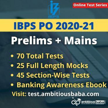 IBPS PO 2020 21 test series