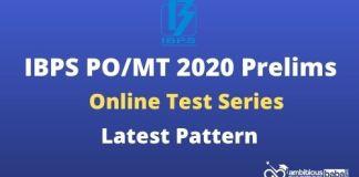 IBPS PO Prelims Test Series 2020