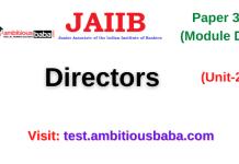 Directors: Jaiib Paper 3 (Module D)