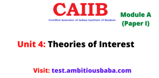 Theories of Interest: Caiib Paper 1 (Module A), Unit 4