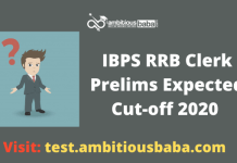IBPS RRB Clerk Pre expected cutoff 2020